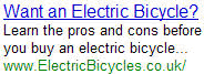 Electric Bicycle - ElectricBicycles.co.uk