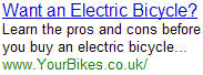Electric Bicycle - YourBikes.co.uk
